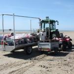 Ramassage de déchets à la pointe d'Agon