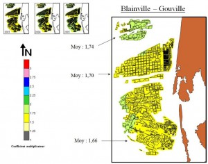 Cartographie rendements ostréicoles sur Blainville et Gouville (SMEL)