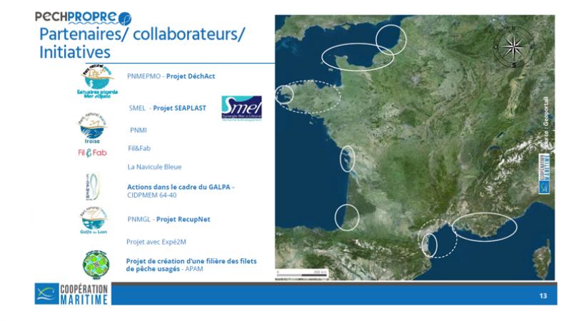 Carte des projets partenaire de PECHPROPRE
