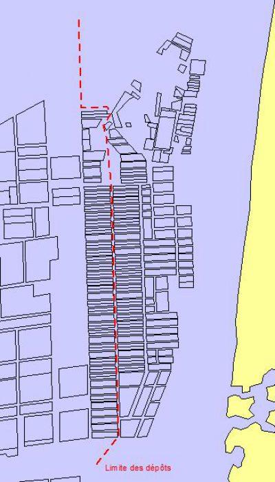 Carte des dépôts de Gouville/Mer (@SMEL)