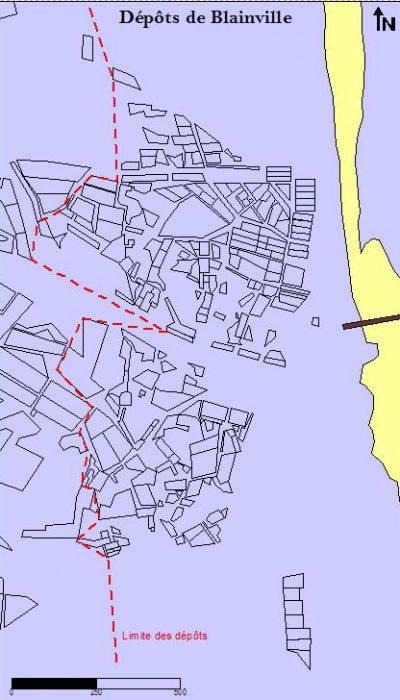 Carte des dépôts Blainville/Mer (@SMEL)
