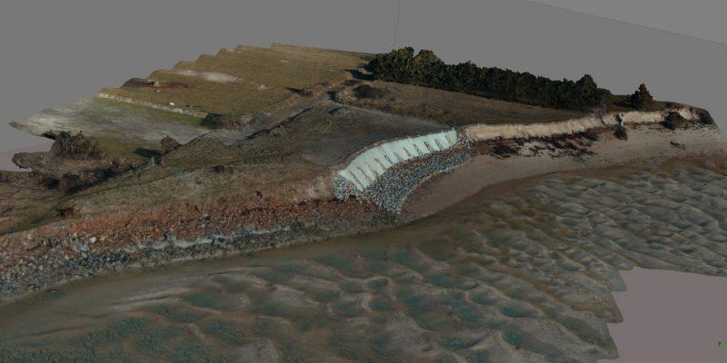 Reconstruction 3D de la zone de la SAMARITAINE par drone (@SMEL)