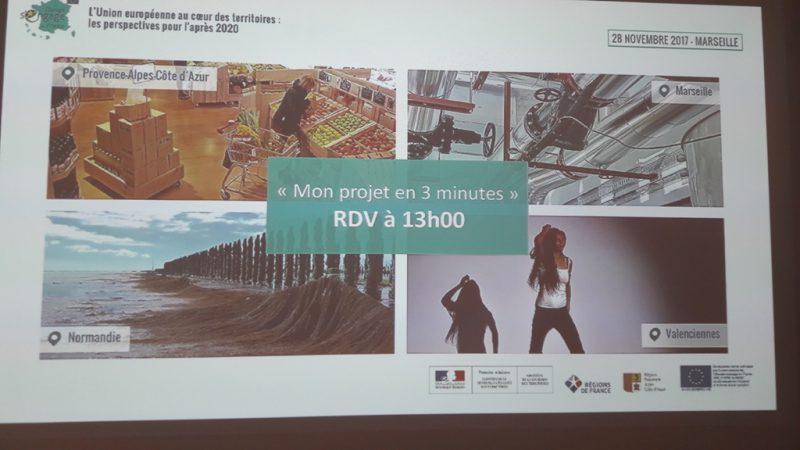 Panneau de présentation de la séquence «Mon projet en trois minutes» (@SMEL)